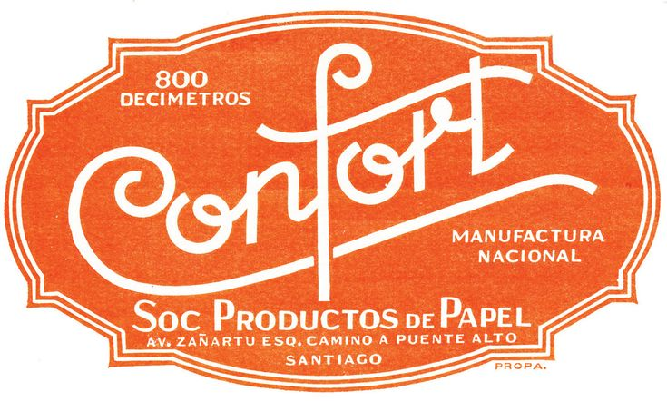 marca papel higienico confort - 1939