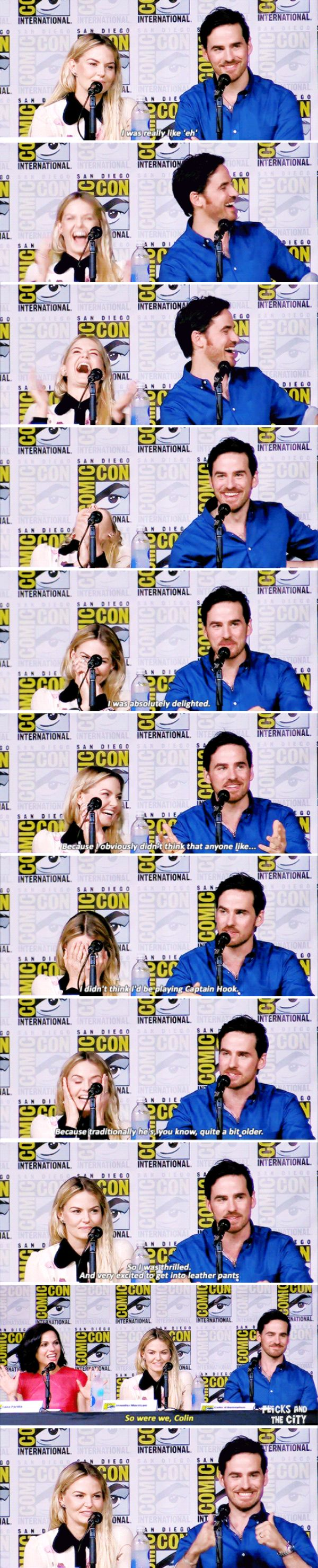 Colin O'Donoghue, Jennifer Morrisona and Lana Parilla at San Diego Comic Con 2016 - 23 July 2016 <<< Jennifer and Lana's reactions are GOLDEN!