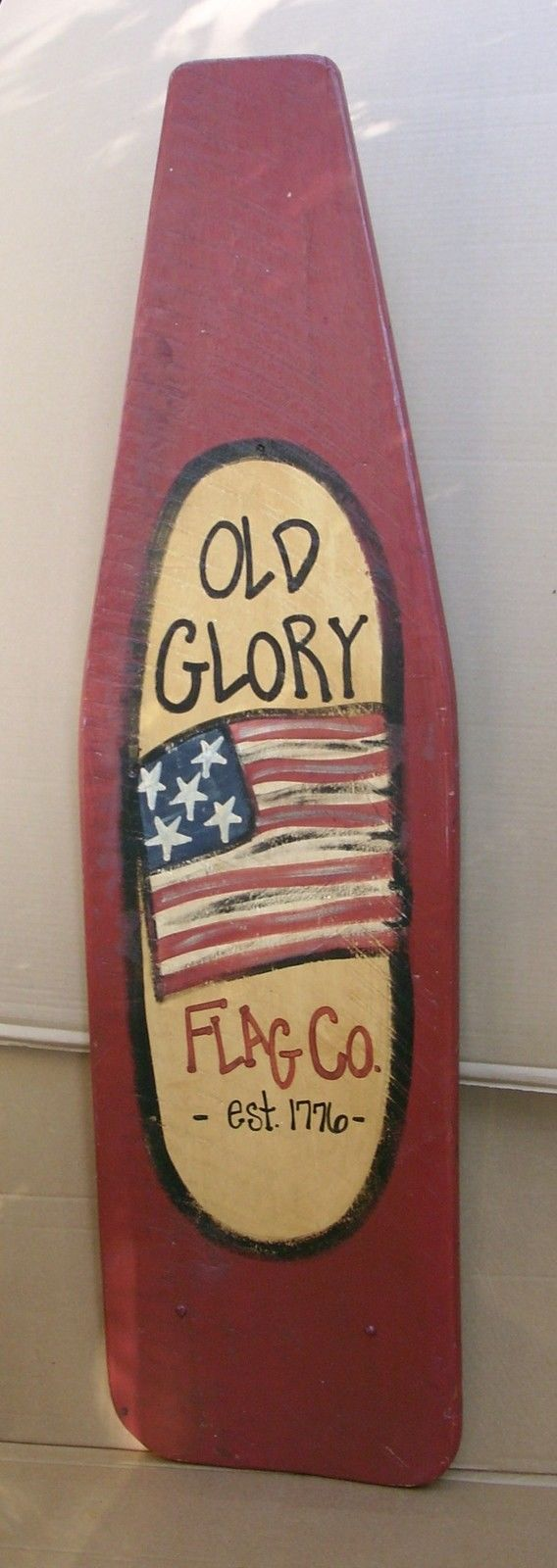 ANTIQUE AMERICANA PAINTED IRONING BOARD FLAG FOLK ART WALL HANGING TAVERN DECOR  in Antiques, Primitives | eBay