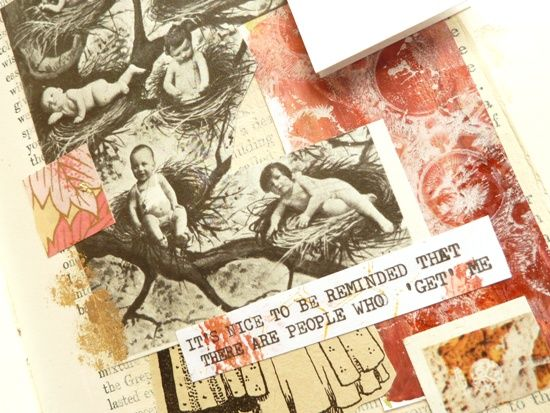 Adding words to your pages. Part 7 of the collage adventure 'Fortune & Geese Favour the Bold' by Julie Kirk
