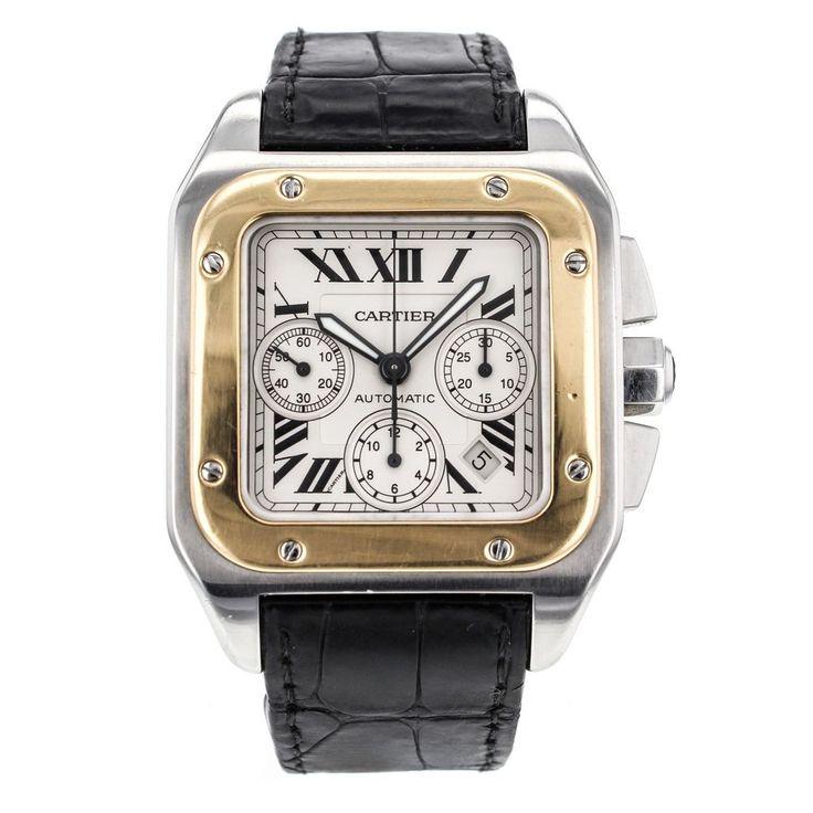 17 best images about cartier watches for men cartier santos 100 xl w20091x7 chronograph men s watch 18k gold steel cartier luxurysportstyles