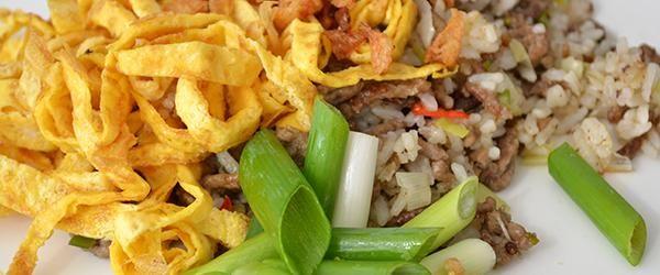 Bill's Pittig gebakken rijst met varkensgehakt - OhMyFoodness Blog Archive » OhMyFoodness