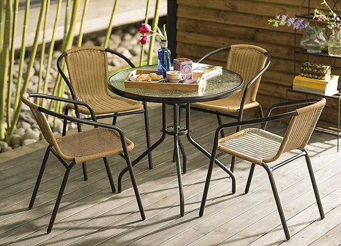Home collection juego rat n pe 5 piezas homecenter for Sodimac terrazas chile