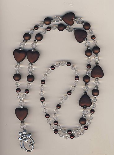 Chocolate Hearts & Crystal Beaded Lanyard Badge ID Holder | eBay