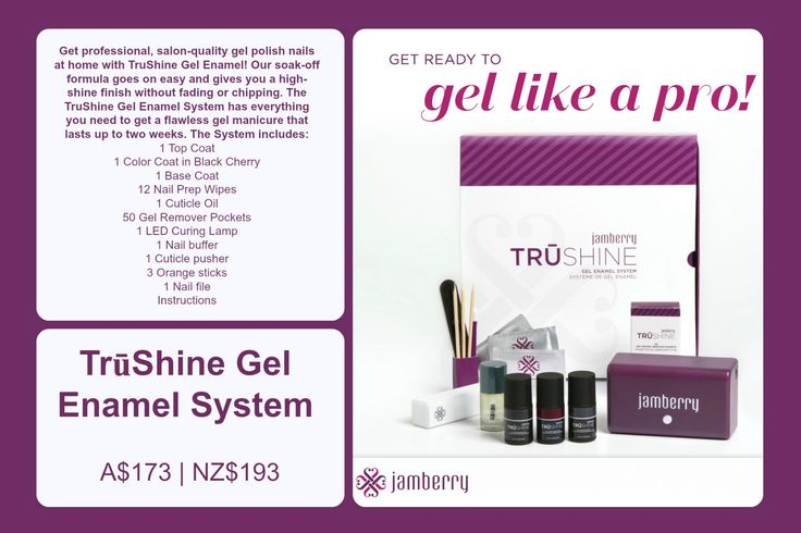 TruShine Gel Enamel System - have gel nails in the comfort of your own home