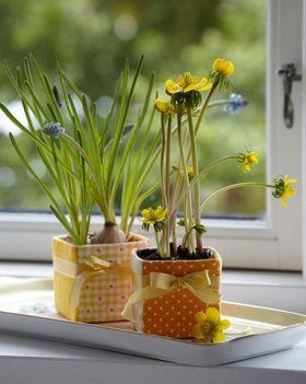 Sød værtindegave   Kreativt til boligen   Fine, små urtepotteskjulere   Sjovt håndarbejde