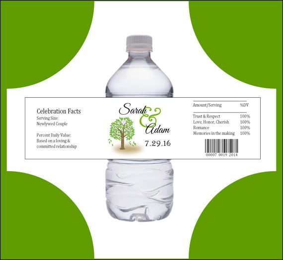 100 Tree Rustic water bottle labels  by creatingapapermemory