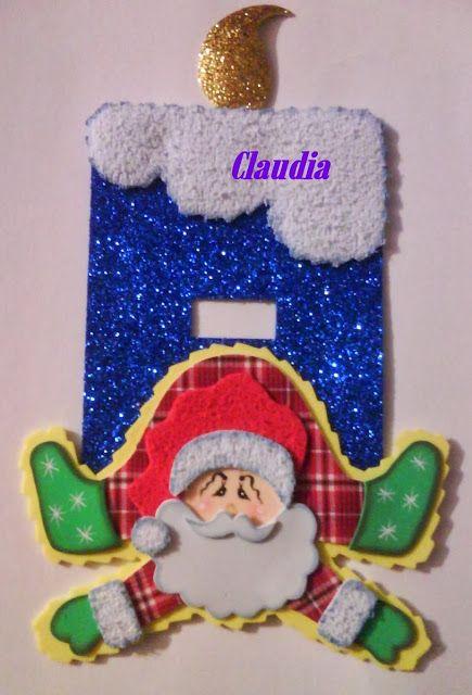 Lindas manualidades tapa de luz navide o dibujar for Manualidades para adornos navidenos