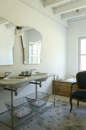 25 beste idee n over vintage badkamers op pinterest victoriaanse badkamer vintage - Vintage badkamer ...
