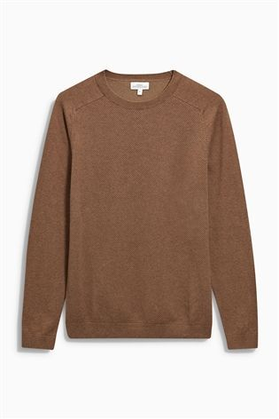 Buy Tan Bubble Stitch Crew from the Next UK online shop