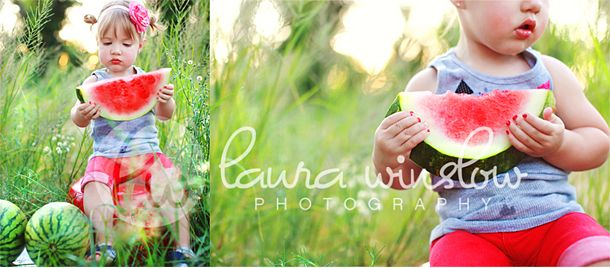 Mini Session Idea - watermelon, green apples, lemons etc.......  Photography by  http://laurawinslowphotography.com