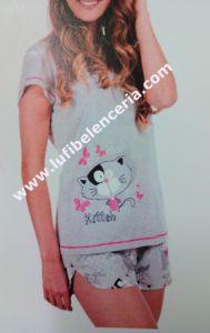 Pijama mujer pantalón corto