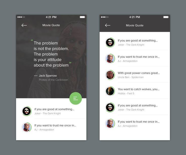 168 best Mobile UI | Contents images on Pinterest | App ui ...  |App Design Quotes