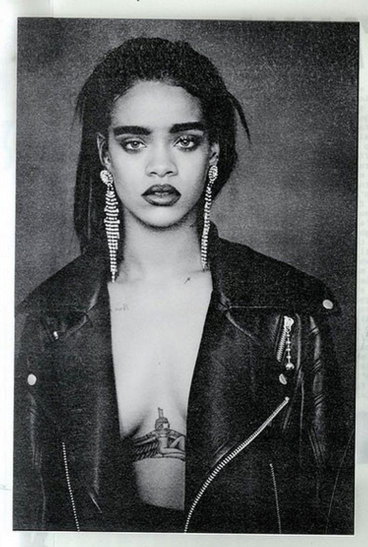 "Rihanna's album look for her new single, ""Bitch Better Have My Money"". Those brows! 