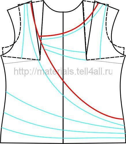 Модель из трикотажа с драпировкой | Шкатулка