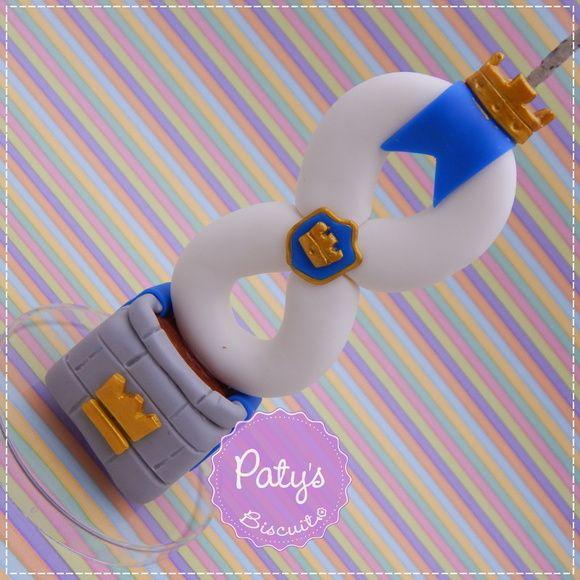 Vela decorada Clash Royale - Festa Infantil - Paty's Biscuit