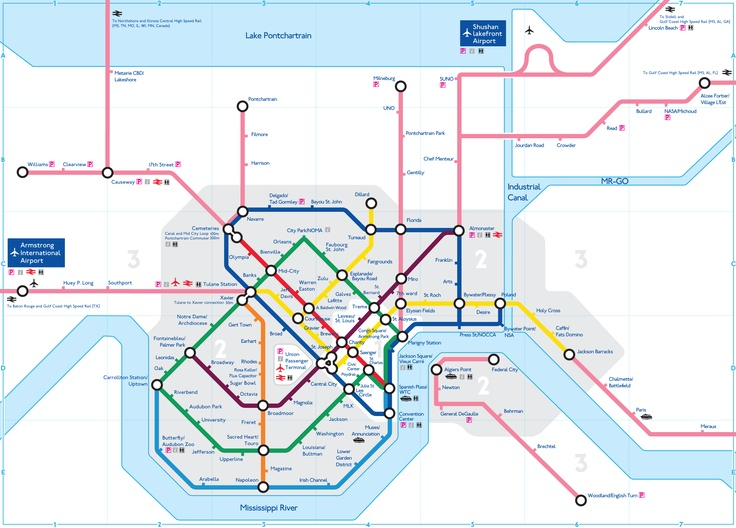 New Orleans Subway Map