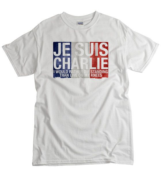 Je Suis Charlie T-shirt Stand strong with France by UnicornTees