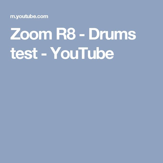 Zoom R8 - Drums test - YouTube