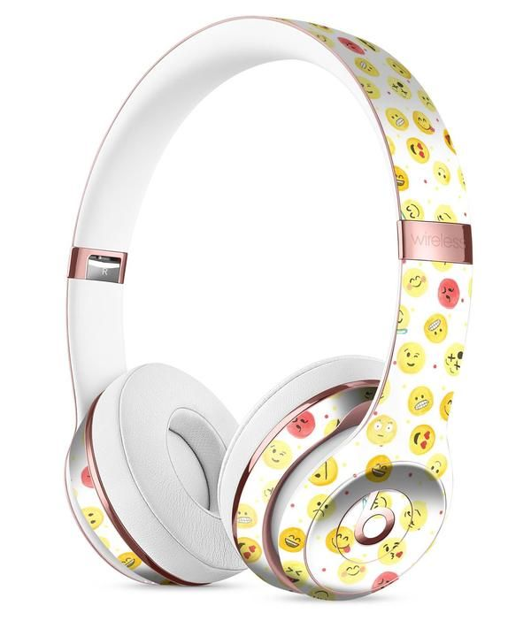 The All Over Emoji Pattern Full-Body Skin Kit for the Beats by Dre Solo 3 Wireless Headphones