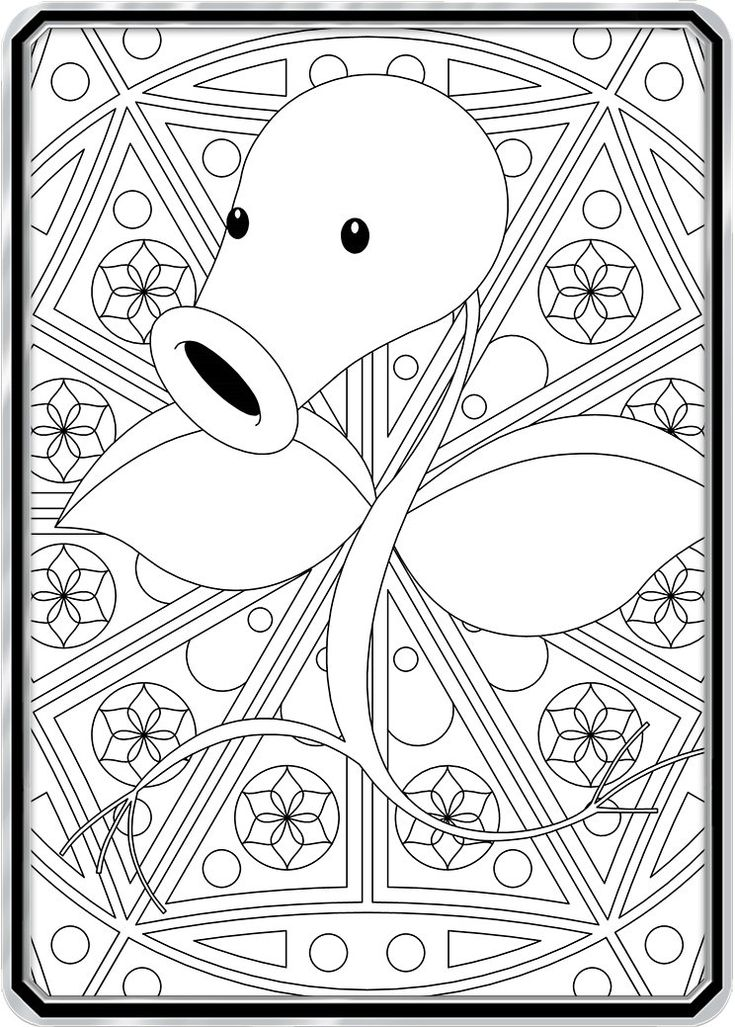 Color Me Bellsprout - Custom Pokemon Coloring Card ...