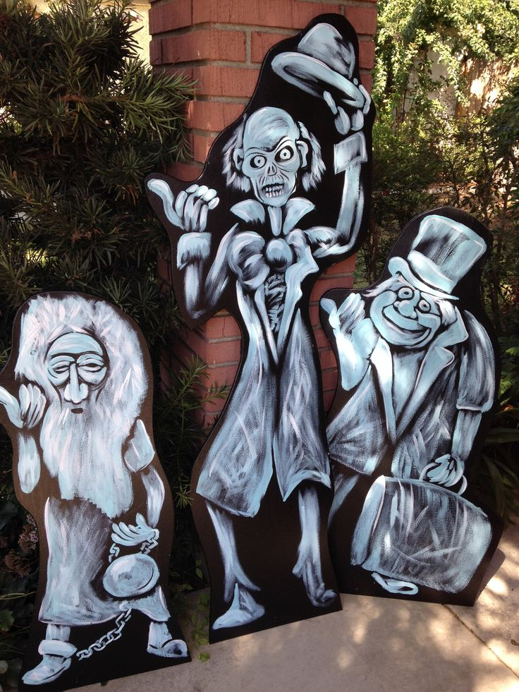 Haunted Mansion Hitch hiking Ghost Yard Displays - perfect for Halloween! www.holidaylawncharacters.com