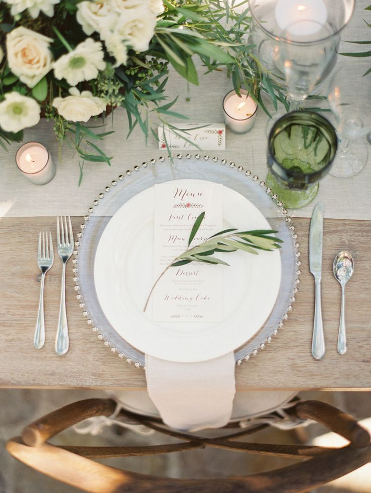 #place-settings Photography: Erich McVey - erichmcvey.com Read More: http://www.stylemepretty.com/2014/04/08/organic-garden-affair-in-san-juan-capistrano/