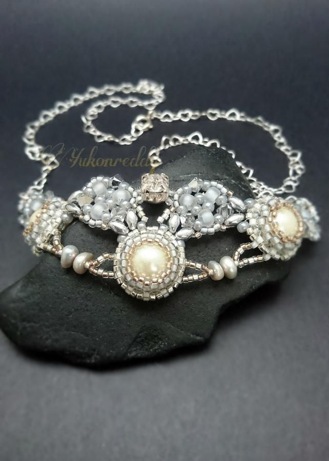 Crystal and pearl necklace by Becca Ross