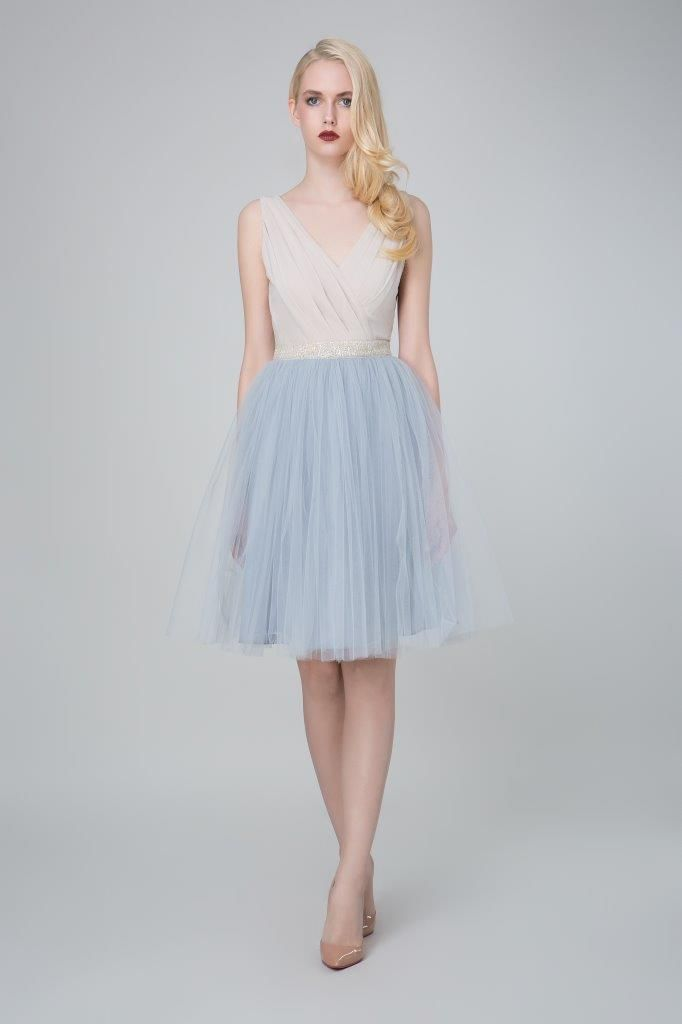 SADONI evening dress ZOE in soft jersey with ZELA tulle skirt