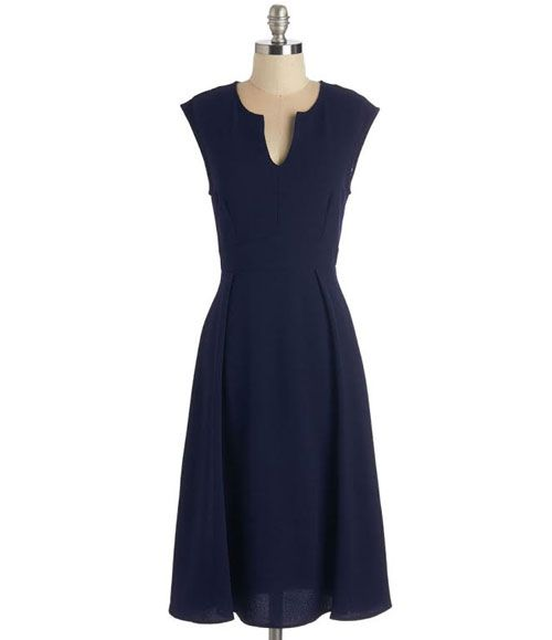 TW_5039 Short Dark Navy Blue Dress