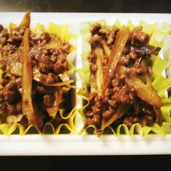 舞茸とごぼうのそぼろ炒め煮♪お弁当の冷凍保存