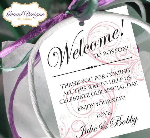 Set of 10  Swirl Gift Tags for Wedding by GrandDesignsbyJoanna, $9.50  But printed on the back of the door hanger