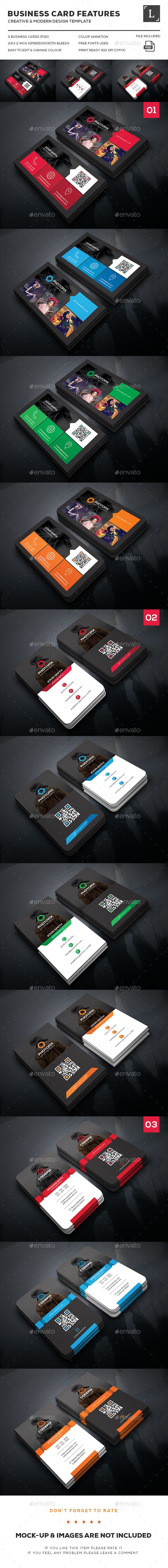 77 best business cards images on pinterest business card design photography business card bundle reheart Images