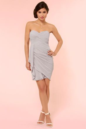 Midnight Masquerade Strapless Grey Dress $72, another option since the dress from target isn't available