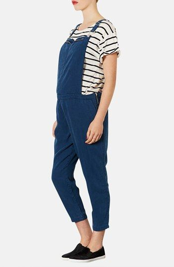 $57, Navy Overalls: Topshop Moto Maternity Overalls. Sold by Nordstrom. Click for more info: https://lookastic.com/women/shop_items/51781/redirect