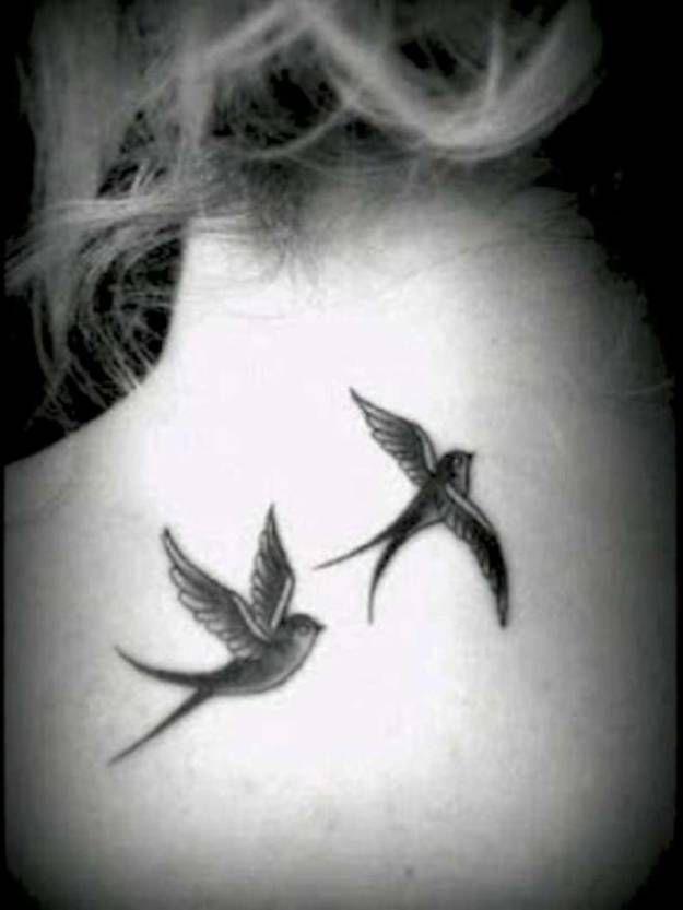 Swallow Bird Tattoos For Women