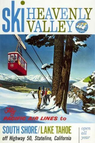 Vintage ski poster art