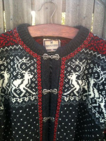 Vintage Dale of Norway Ski Cardigan Sweater  by jenEembroidery, $129.00