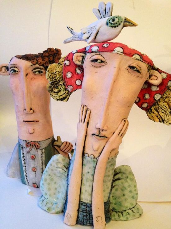 Ceramic works by Sarah Saunders