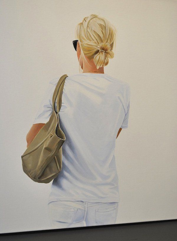 Back portrait paintings by Sabine Liebchen