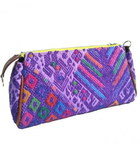Handwoven Purple Ethnic clutch made out of a huipil from Nahuala. Handmade in Guatemala by Camboria.  The perfect accessory for a boho look.