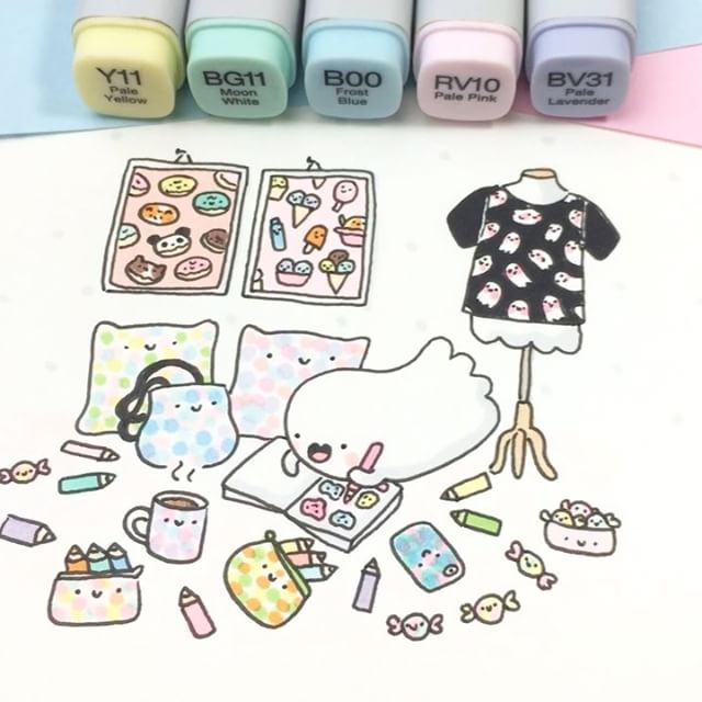 Spooky's Room ✏️ Black Friday Sale is still going on! ✨ Use code KAWAIIFRIDAY on shopkirakira.com and get 10% off! Also check out my huge art print sale!  For more cute items such as phones cases and T-Shirts, make sure to check out my two other shops on Society6 and RedBubble! It's 20% off everything there! ✨ Decorate your room with kawaii thingies - just like Spooky did  #kawaii #coloringbook #kirakiracoloring #spookymccute #doodles #copicmarkers #copic #drawing #doodli...