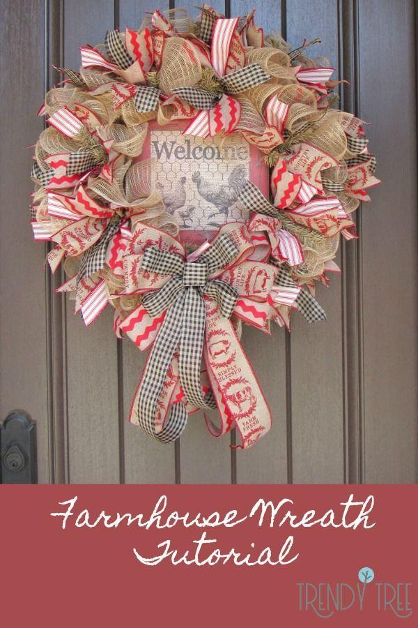 farmhouse wreath tutorial cute