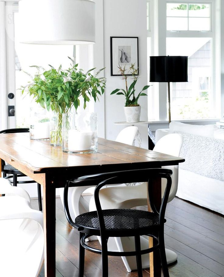 Dining room furniture: Black bentwood dining chairs {PHOTO: Tracey Ayton""