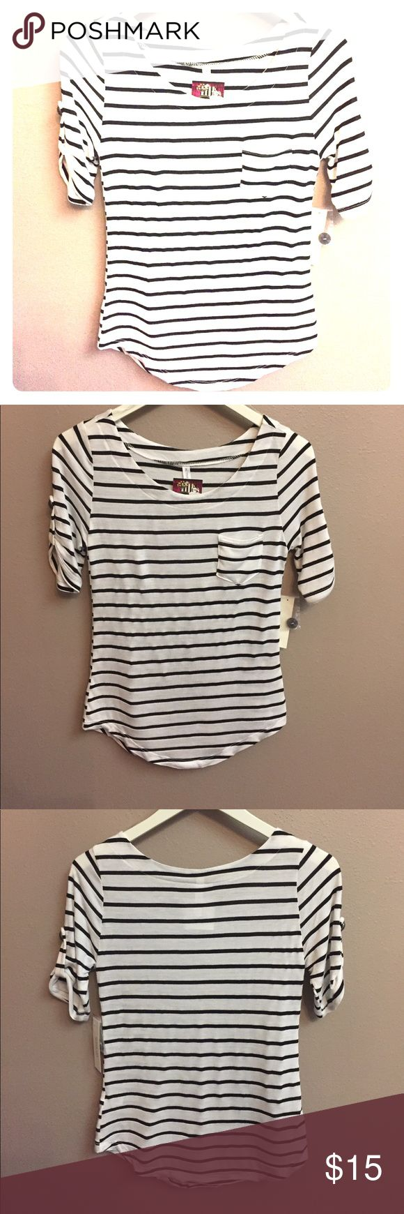 Stripe Short sleeve top Stripe Short sleeve top Tops Blouses