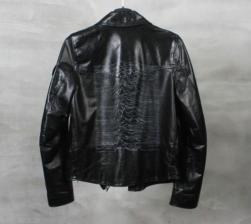 "Raf Simons fall 2003 ""Closer"" Joy Division leather jacket"
