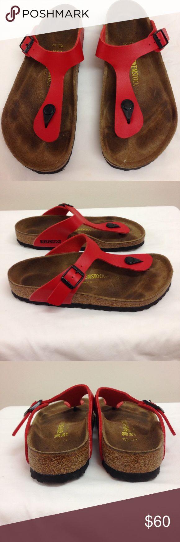 NEW LISTING Birkenstock Sandals Red. Show signs of wear. Size 8/38.  (6/2) Birkenstock Shoes Sandals