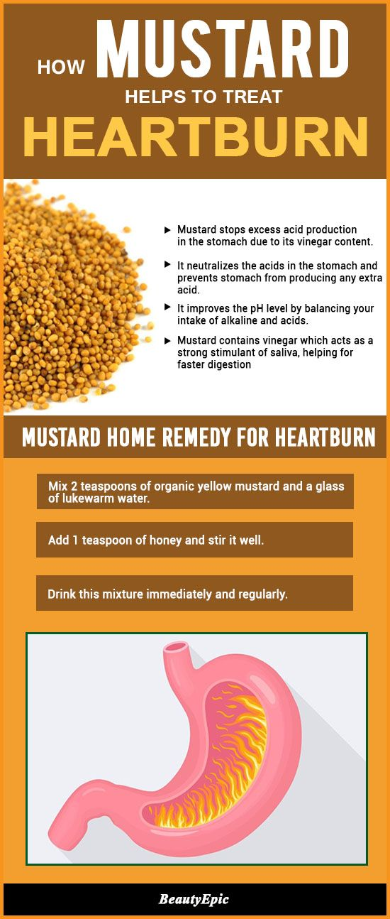 How Mustard Helps to Treat Heartburn
