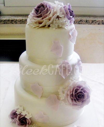 #wedding #cake #sleek #cafe cakes #savona #italy #flowers #sugar