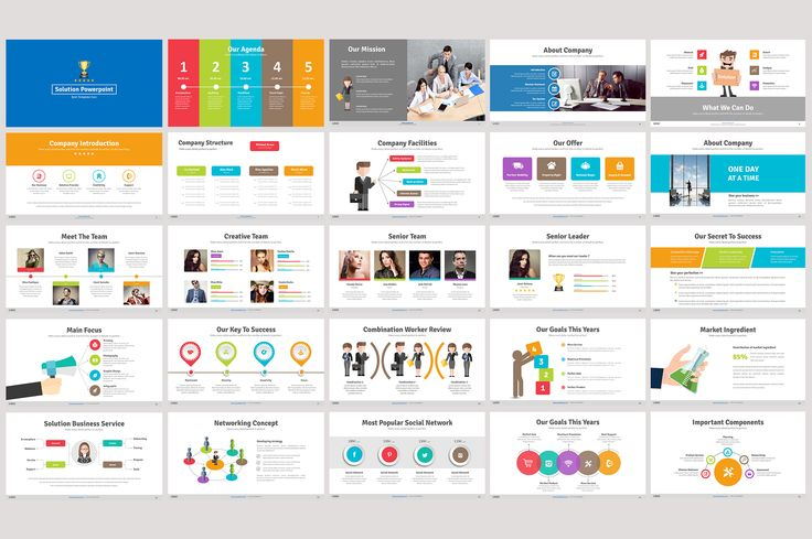 Solution Powerpoint Template by DesignCorner on Creative Market
